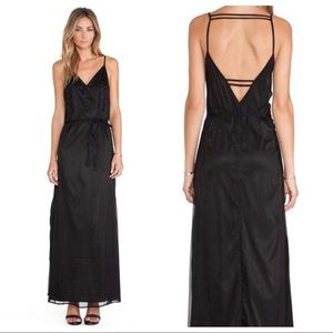 lovers + friends / black beaded strappy maxi dress